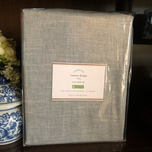 Pottery Barn Emery Drape Curtain 50X96 Blue Dawn 1